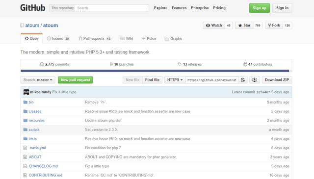 PHP自动测试框架Top 10
