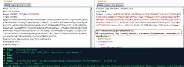 网站漏洞测试与修复漏洞Laravel框架