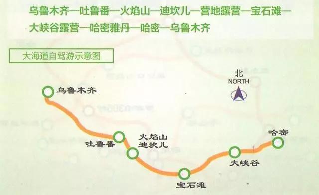 新疆自驾旅行线路图!早晚会用到