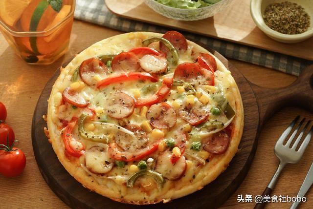 电饭锅懒人披萨,做出的披萨居然能有那么强的拉丝!饼底软软的