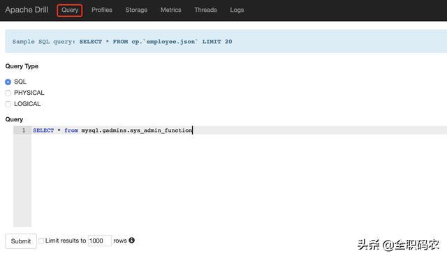 Java开发者必知必会的工具之Apache Drill