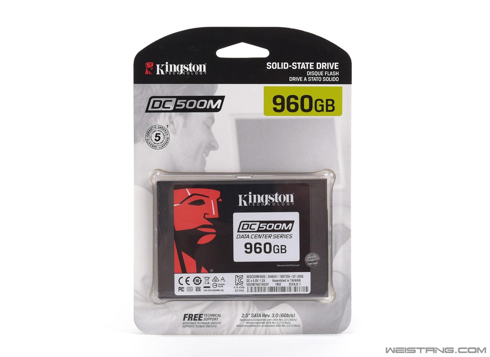 金士顿DC500M 960GB SSD评测