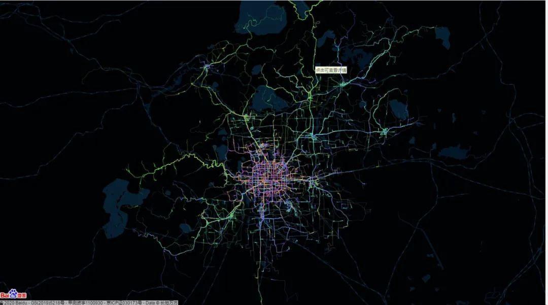 太震撼了,我用python画出全北京的公交线路动图
