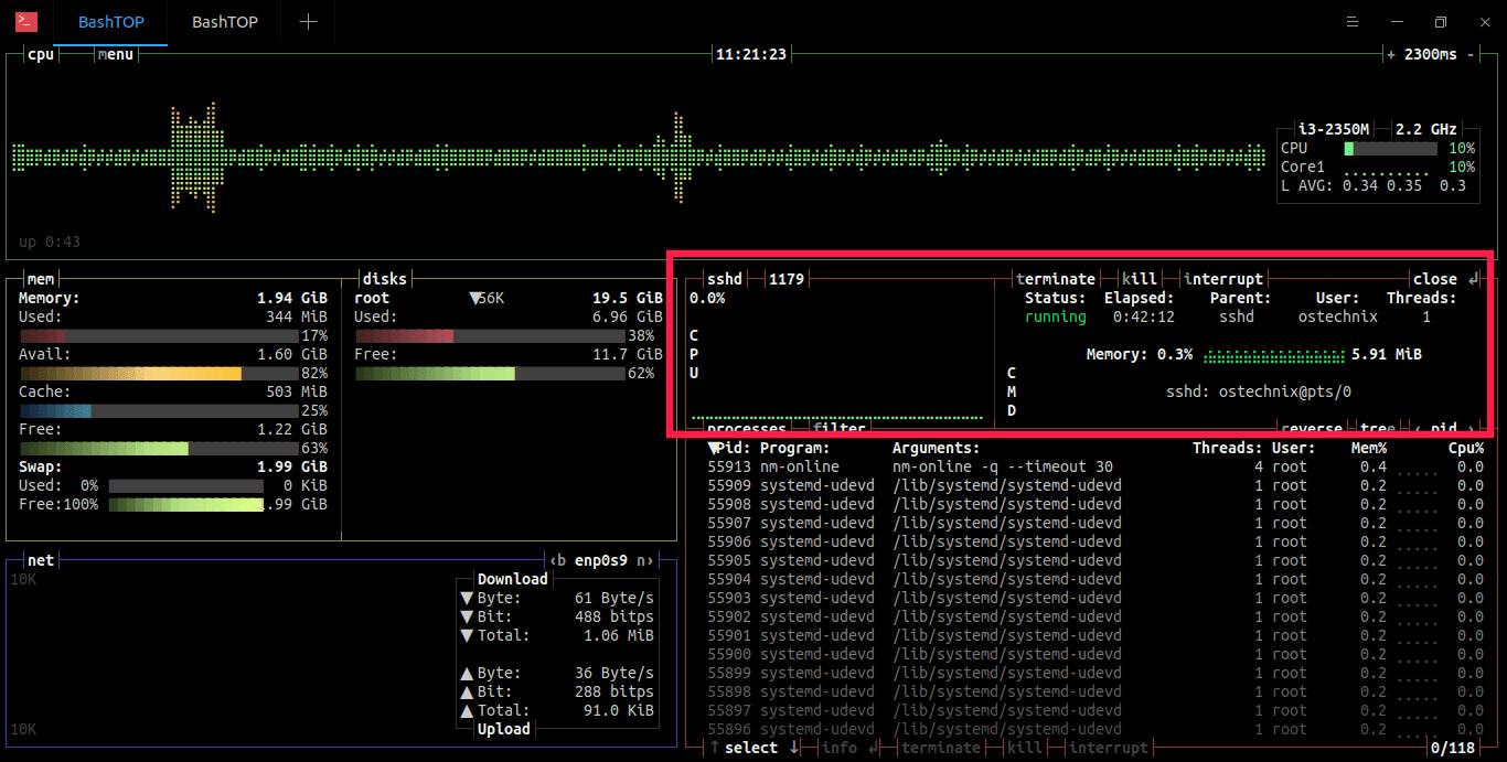 在Linux中使用Bashtop与Bpytop监管系统资源