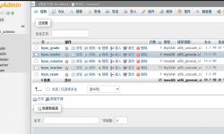 mysql数据库的数据表重命名方法
