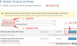 Mysql:下载、安装、部署、修改密码步骤
