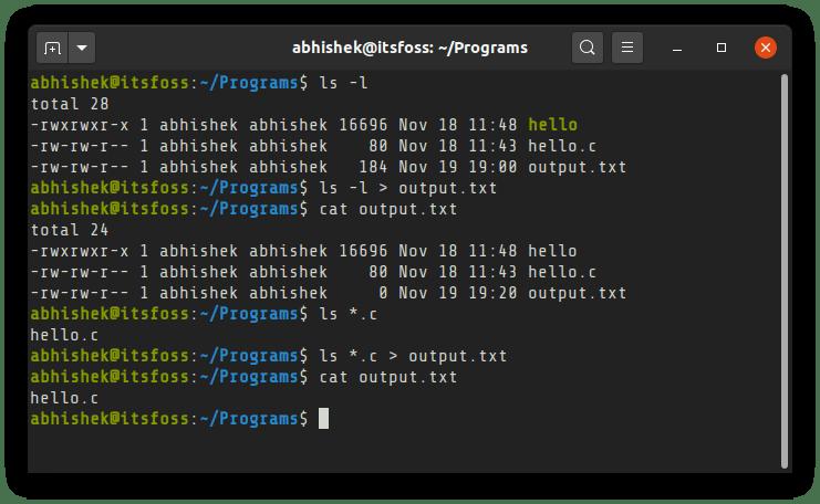 如何将 Linux 终端中命令的输出保存到文件中