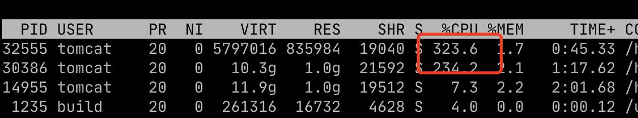 Linux快速找出Java应用占用CPU最高的线程