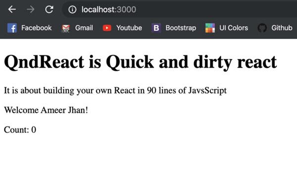 90行JS代码构建属于你的React
