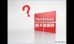 D盘冒出一个FileHistory文件夹,占用好几